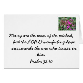 Bible verse on the wicked vs the righteous stationery note card
