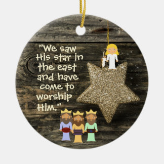 Bible Verse Personalized Christmas Ornament