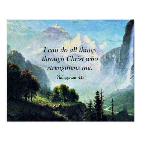 Bible verse, Phil 4:13, I can do all things... Poster