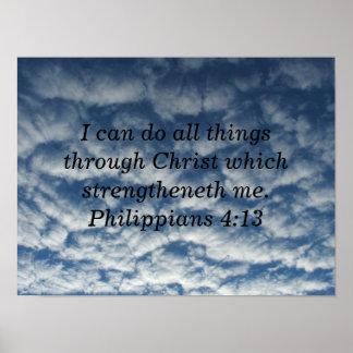 Bible verse philippians 413 poster cloud poster