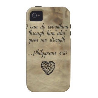 Bible Verse Philippians 4 13 iPhone 4/4S Covers