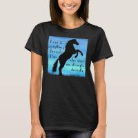 bible verse Philippians 4:13 horse poster T-Shirt
