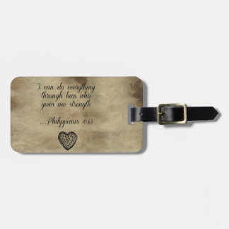 Bible Verse Philippians 4:13 Tags For Luggage