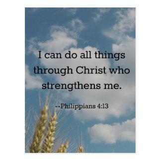 Bible Verse, Philippians 4:13 Postcard