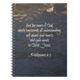 Bible Verse Phillippians 4:7 Notebook