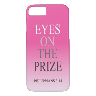 Beach Themed Bible Verse phone case Eyes On The Prize