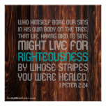 Bible Verse Poster - 1 Peter 2:24