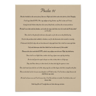 photo relating to Psalm 91 Printable called Psalm 91 Artwork Wall Décor Zazzle