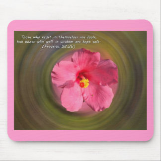 Bible Verse Proverbs 28:26 Mouse Pad