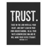 Bible Verse Proverbs 3:5-6, Black and White Print