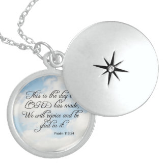 Bible Verse Psalm 118-24 Over Cloudy Sky Jewelry N