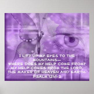 Bible verse Psalm 121 prayer poster