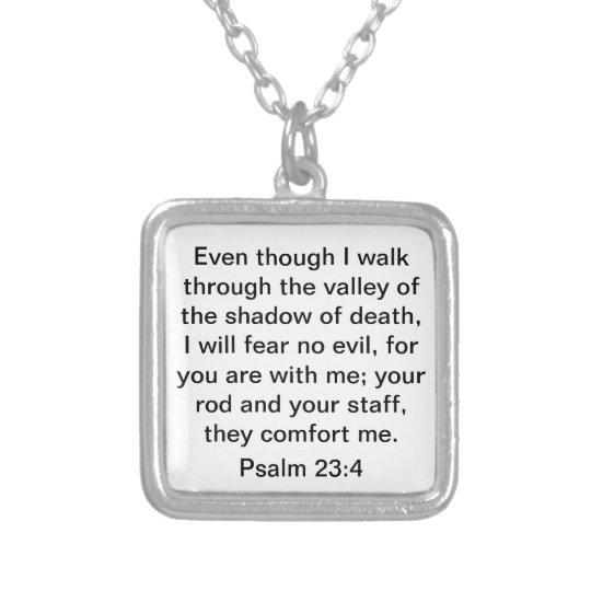 Bible Verse Psalm 23:4 Necklace