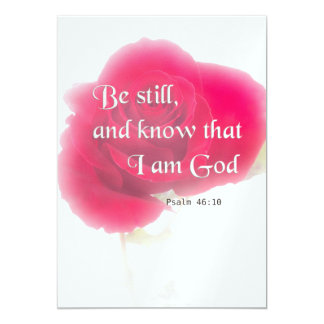 Bible Verse Psalm 46:10 Flower Card Or Invitation