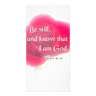 Bible Verse Psalm 46:10 Flower Card Or Invitation Photo Card
