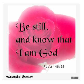 Bible Verse Psalm 46:10 Flower Wall Decal
