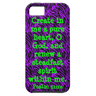 bible verse Psalm 51:10 iPhone 5/5S cover