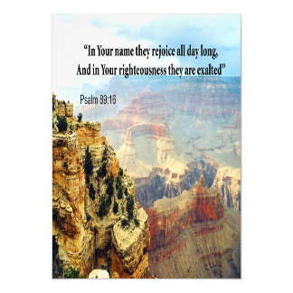 Bible Verse Psalm 8-16 Invitation Cards
