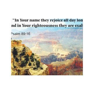 Bible Verse Psalm 8-16 Photograph Picture Canvas Print