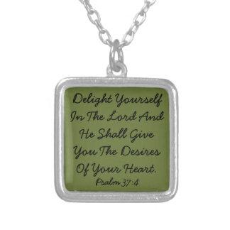 Bible Verse Psalm Necklace