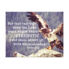 Bible Verse: Renew Strength, Wings as Eagles Canvas Print