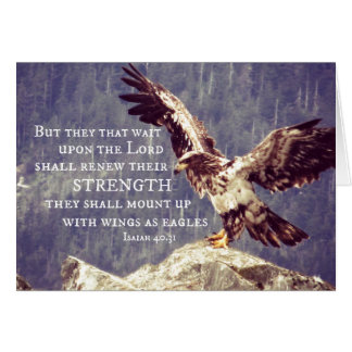 Bible Verse: Renew Strength, Wings as Eagles Card
