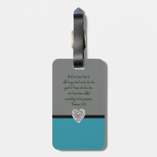 Bible Verse Romans 8:28 Retro Bag Tag