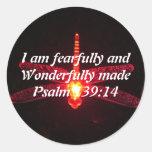 Bible Verse Round Sticker