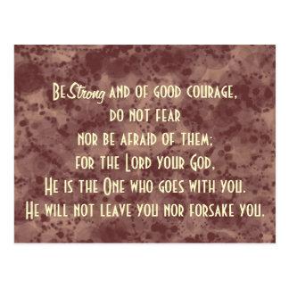 Bible Verse Scripture Be Strong Postcard