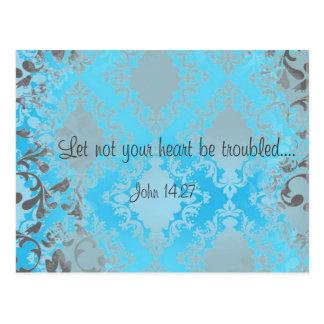 Bible Verse Scripture Let Not Your Heart Be Postcard