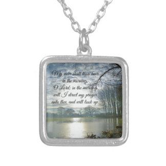 Bible Verse Scripture Prayer Silver Plated Necklace