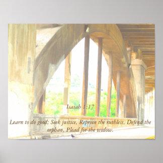 Bible Verse Social Justice Poster