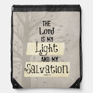 Bible Verse: The Lord is my Light and my Drawstring Bag