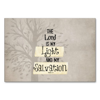 Bible Verse: The Lord is my Light and my Table Card