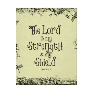 Bible Verse: The Lord is my Strength Canvas Print