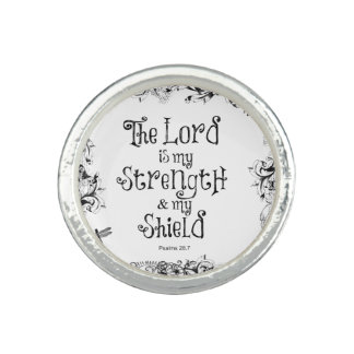 Bible Verse: The Lord is my Strength Ring