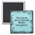 Bible Verse This is the Day the Lord hath Made 2 Inch Square Magnet