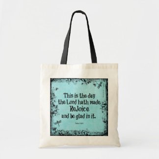 Bible Verse This is the Day the Lord hath Made Budget Tote Bag