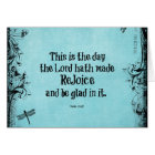 Bible Verse This is the Day the Lord hath Made Card