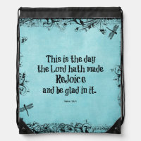 Bible Verse This is the Day the Lord hath Made Drawstring Bag