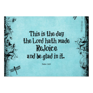 Bible Verse This is the Day the Lord hath Made Large Business Cards (Pack Of 100)