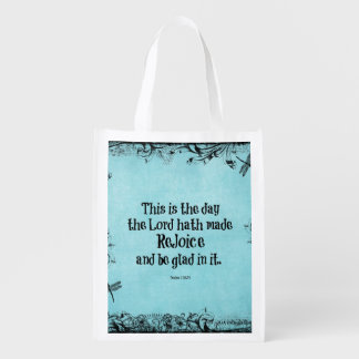 Bible Verse This is the Day the Lord hath Made Grocery Bag