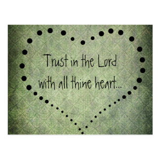 Bible Verse Trust in the Lord Postcard