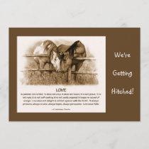 BIBLE VERSE: WEDDING INVITE: HORSES, PENCIL INVITATION
