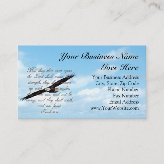 bible verse wings as eagles christian business card - Christian Business Cards