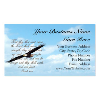 Bible Verse, Wings as Eagles Christian Double-Sided Standard Business Cards (Pack Of 100)