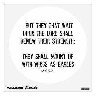 Bible Verse: Wings as Eagles Wall Sticker
