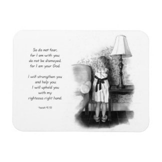 Bible Verse With Pencil Drawing of Child: Isaiah Rectangular Photo Magnet