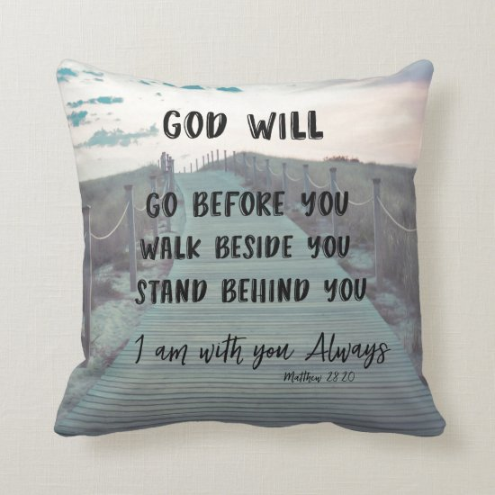 Bible Verse With Quote Throw Pillow