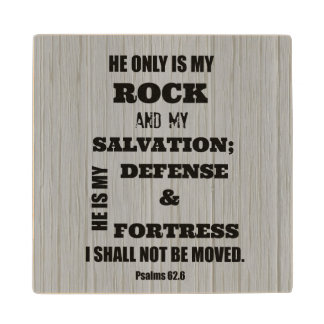 Bible Verse Wood Coaster